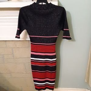 Say What? Dresses - Say What Stripe Midi Stretch Dress Sz L